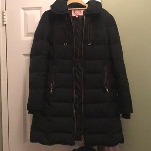 Black juicy winter coat size large